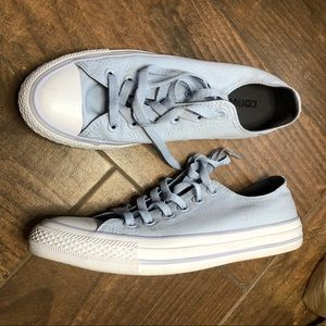 Converse light blue low top sneakers